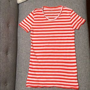 J.Crew Red & White Striped Tee Shirt Top